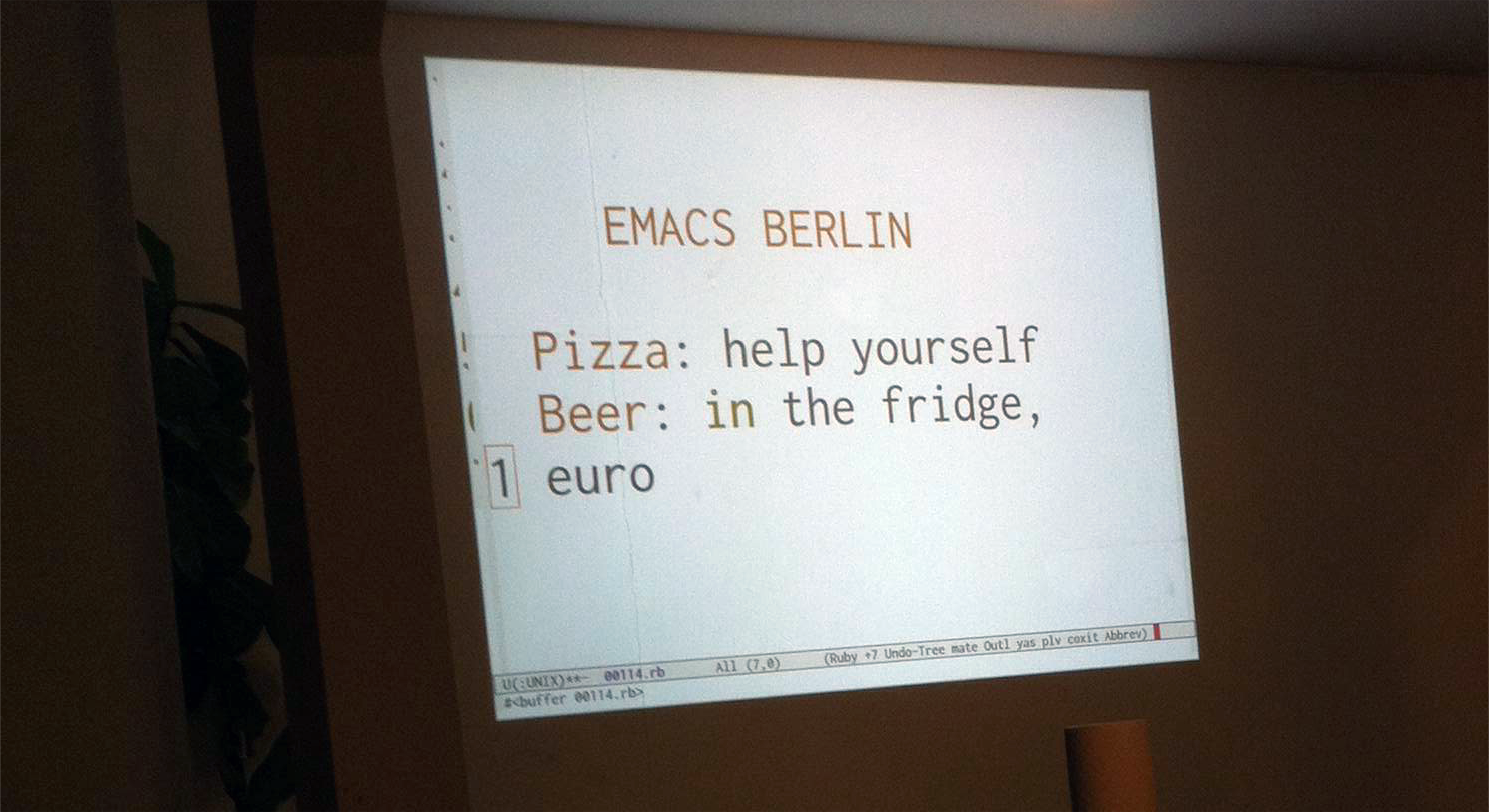 We visited the first Emacs meetup in Berlin | anynines blog
