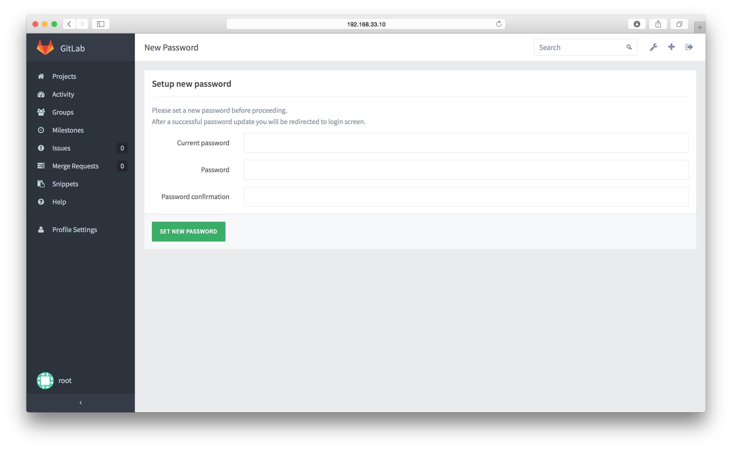 anynines_gitlab_setting_new_password