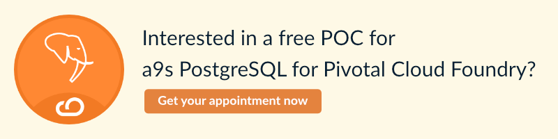 a9s PostgreSQL for Pivotal Cloud Foundry free Proof of Concept Call to Action image