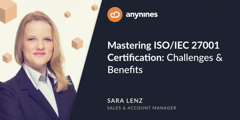 Mastering ISO/IEC 27001 Certification article featured image | anynines - Sara Lenz